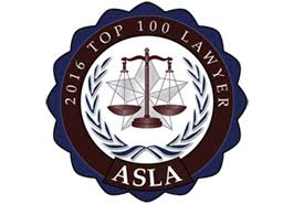 American Society of Legal Advocates - Top 100 Civil Litigation - 2016