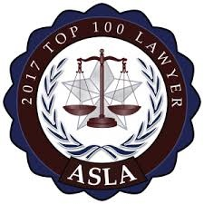 American Society of Legal Advocates - Top 100 - 2017