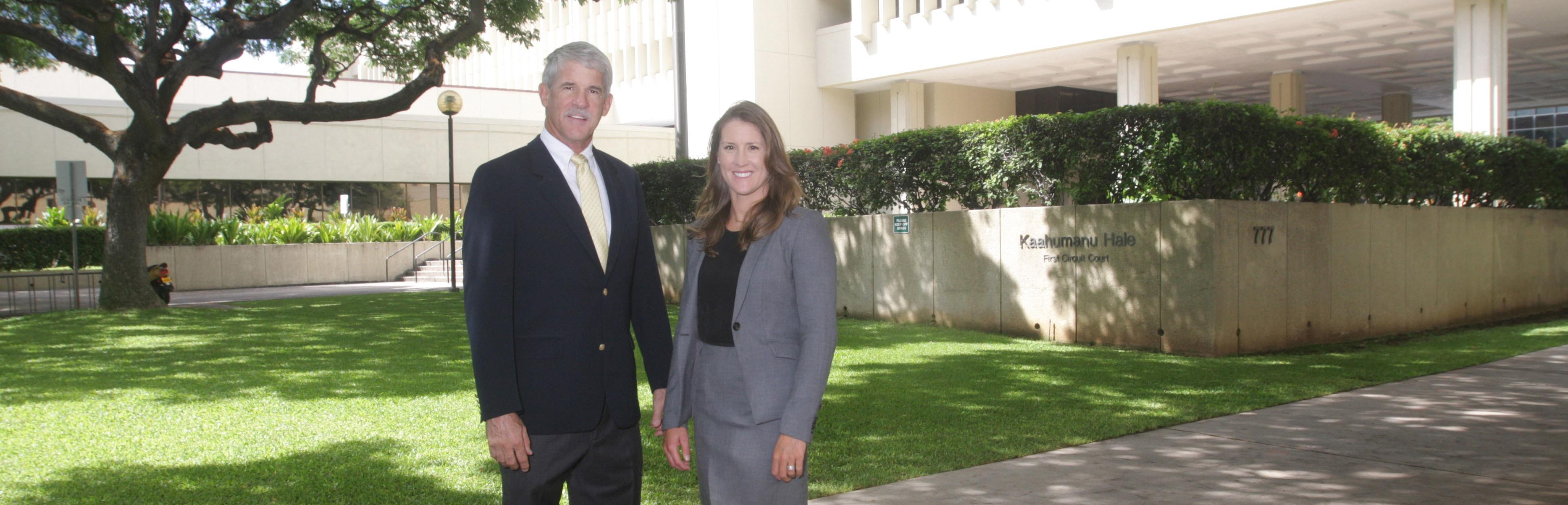 Honolulu Injury Lawyers William Lawson and Amy Woodward